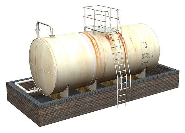 Bachmann Scenecraft 44 129 Oo Scale Fuel Storage Tank