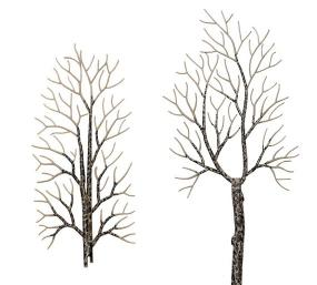BUSCH BUS6158   HO SCALE   4 winter deciduous trees
