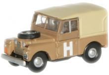 "OXFORD DIECAST NLAN188002   N SCALE   Land Rover Series 1 88"" Canvas Sand Military."