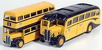 CORGI CLASSICS 96990 1:50 1:64 SCALE AEC Regal Coach and an AEC Double Deck Bus