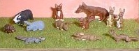 LANGLEY MODELS L22p O SCALE Wild Animals. Painted